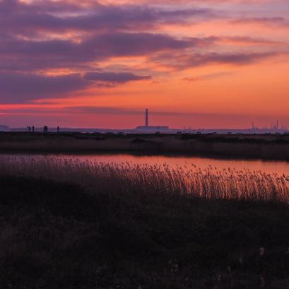 Sunset over Titchfield Haven